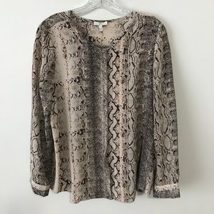 Joie Silk Blouse with Snake Print